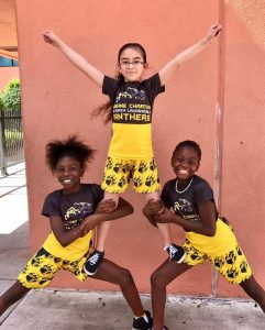 Students from the Imagine North Lauderdale cheer squad have a lot to celebrate.
