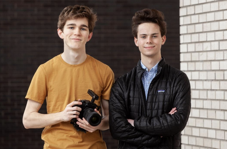 "Mason Daugherty and Eli Scott will receive $5,000 from C-SPAN for their Grand Prize documentary, ""What It Means to Be American."" (Photo credit: StudentCam.org)"